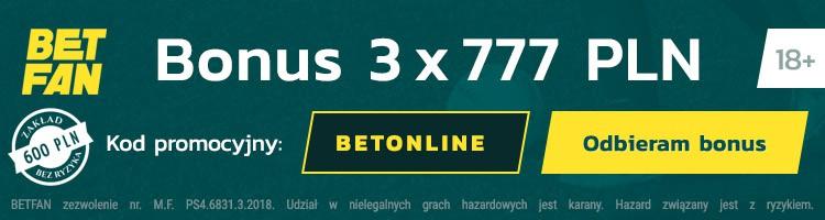 Betfan kod promocyjny na bonus
