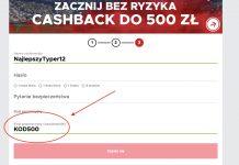 Betclic premia powitalna 2019. Extra bonus 500 PLN!