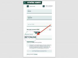 """Co daje kod """"BETONLINE"""" w Betfan?"""