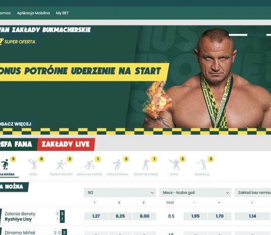 Zakłady bukmacherskie Betfan online. Oferta, bonusy, promocje